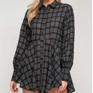 Tops - 🆕 Plaid Top or Mini Dress